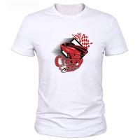 Men's Printed Cotton Casual T-Shirt 2014 New Cartoon print  White Tshirt Top hip pop Tee For Men Wholesale Dropship