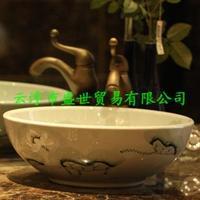 Jingdezhen ceramic art basin basin sink ceremony law in the swimming pool to swim