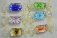 JLB Wholesale 6pcs Baroque colorful Fashion Candy Shape Lampwork glass murano necklace pendants FREE SHIPPING