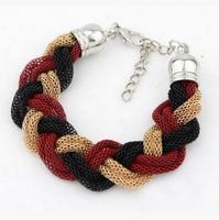 SKB013 New Designer Vintage Hollow Out Charm Chains Bracelets Fashion Wrap Weave Bracelets for Unisex