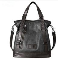2014 New Arrival Hot Sale Vintage Leather Handbags Messenger Bags Shoulder Bag Fason Unique Tactical Design Black PU Leather