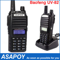 BaoFeng Walkie Talkie Newest Dual Band Two Way Radio UV-82 with Double PTT Button Design 136-174MHz&400-520MHz Free Shipping