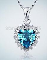 color rhinestone Silver Heart Pendants Crystal New Rhinestone Pendant