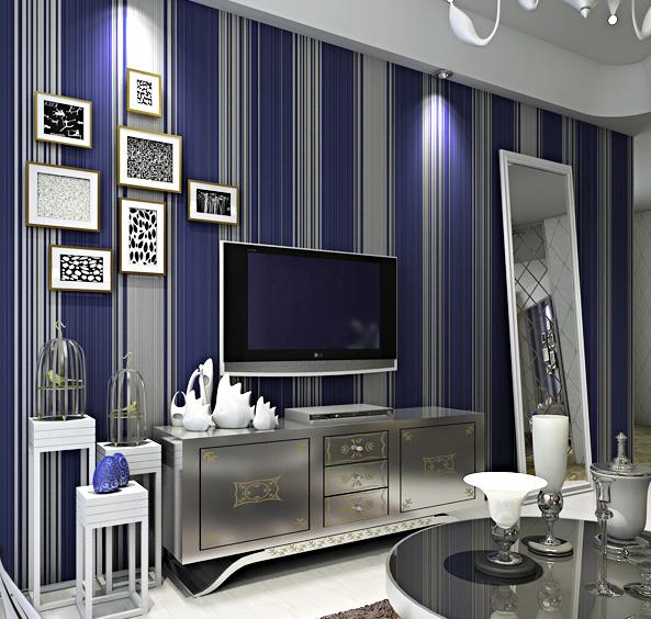 Estilo Simples Vertical Stripe não-tecido Flock Impressão Wallpaper Decoração Renovador Espuma etiqueta de papel de parede de Domicílios(China (Mainland))