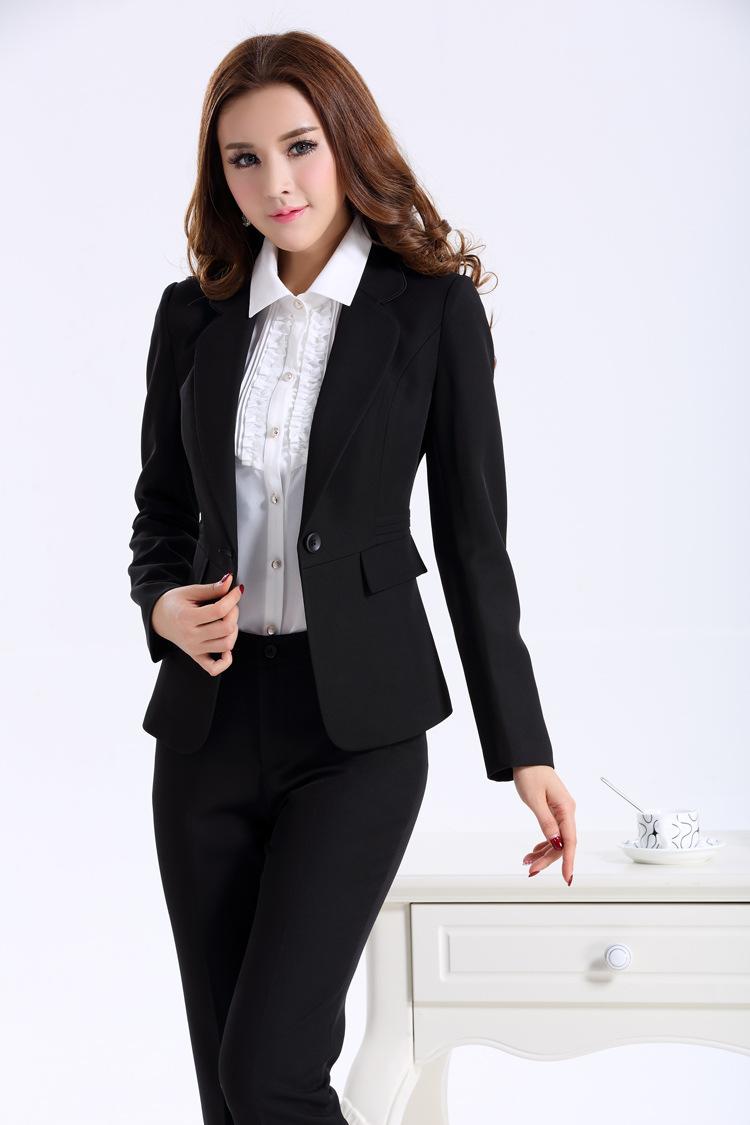 online kaufen gro handel womens black pant suit aus china. Black Bedroom Furniture Sets. Home Design Ideas