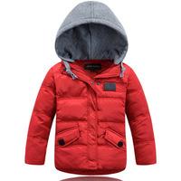 2014 Brand Children boy Cotton Down padded coat Winter kids hoodies jacket warm coat