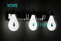 Bedroom Mirror Lights Modern Drops Wall Lamps For Home Modern Banheiro Stainless Steel Bathroom LED Wall Light Arandelas Light