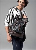Hot Sale New 2014 Men's Vintage Large Leather Tactical Designers Backpacks Hiking Camping Motorcycle Backpack Laptop Bag