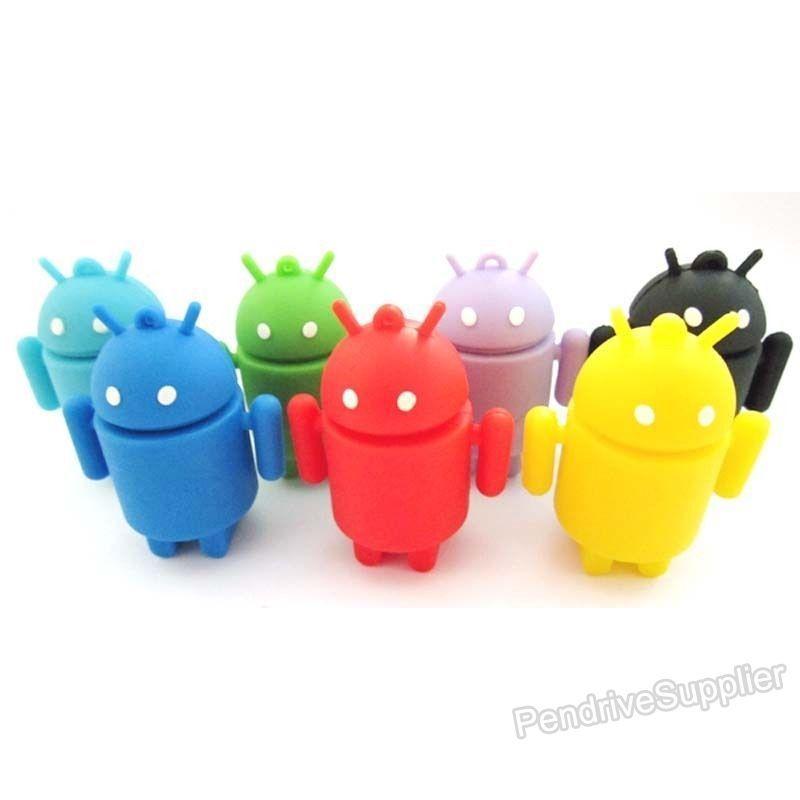 Wholesale 50pcs lot pvc Cartoon pendrive android figure USB Flash drive robots figure pen drive memory disk 1G 32G(China (Mainland))