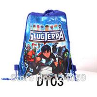 1Piece Non-woven Material kids Shopping Hangbag,Slugterra Cartoon Drawstring Bag Children School Bags,Sport Bag