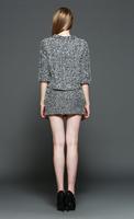 2014 Hitz European and American fashion blouse + skirt full velveteen suit piece T2153
