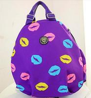 2014 Candy Nylon Backpack Mouth Design Fashion Travel Bag XBG059