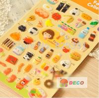 15X9.5CM Hot selling cartoon design Mobile Phone Stickers,DIY foods series sticker,decoration stickers(tt-817)