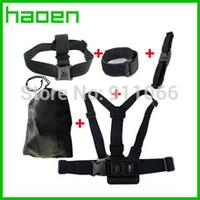 Gopro hero 3 hero 2 Accessories Chest Belt +WiFi Remote Wrist Belt +Head Strap Mount +Helmet Strap +Bag for Gopro Hero3 2 1