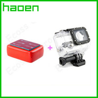 Gopro hero3 45M Waterproof Protective Housing Case+Go pro Floaty Float Box With 3M Adhesive Anti Sink For go pro Accessories