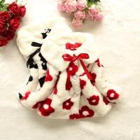 Free shipping fashion children's clothing Sunflower flower girl warm winter wool sweater