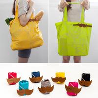 Beard style shopping bag foldable handbag large capacity handbag carry bag street Mom package