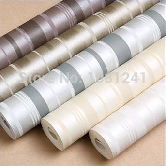 Venda quente 3D em relevo Vertical Stripe Wallpaper Design Ambiental não-tecidos flocagem adesivo Sala de Domicílios papel de parede(China (Mainland))