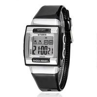2014 New SYNOKE Brand Led Digital Watch For Children Boys Girls PU Plastics Strap Health Watches Fashion Square Dial Wristwatch