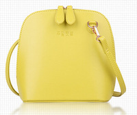 Fashion crossbody bag high quality leather bags designer shell shoulder bag with strap candy cute totes zip bag yellow 6colors