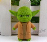 Wholesale 50pcs lot pvc Cartoon pendrive Yoda Starwars Star wars USB Flash drive pen drive memory disk 1G 32G