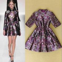 2014 new arrive runway dress quality brand dress fashion dress