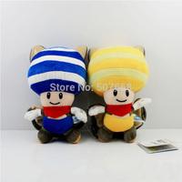 "80pcs/lot Super Mario Bros Mushroom People Plush Toy Doll Soft Stuffed Toy 2color 8""20CM"