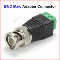 ( 500 pcs/lot ) Coax CAT5 To Camera CCTV BNC Video Balun Male Adapter Connector Wholesale