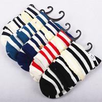 (6Pairs/lot)Wholesale cotton leisure striped women's socks