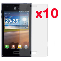 10pcs/Lot! New CLEAR LCD Screen Protector Guard Cover Protective Film For LG E610 E612 Optimus L5