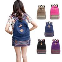 Casual Women's Canvas Travel School Satchel Shoulder Bag Backpack Rucksack