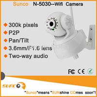 Free shipping White HD 480P P2P WIFI IP Camera Indoor wireless ip Security Camera Night Vision IR Video CCTV Camera