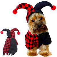 1pc/lot Chrismas Halloween Pet Puppy Fleece Hooded Jumper Apparel Dog Winter Warm Cloth Coat EJ673112