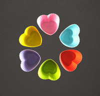 New Silicone Heart Shape Cake Cup Bakeware Muffin Mold Jelly Pullding Modelling Kitchen Cooking Tools Cake Decorating Mould