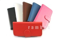 PU Leather Flip Case Cover Wallet Pouch Card Holder Stand for iPhone 6