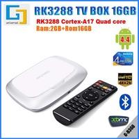 Quad Core TV Box RK3288 RAM 2G ROM 16G Support 4Kx2K H.265 Bluetooth Android tv box XBMC wifi display sharerG-B368