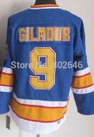 wholesale St. Louis #9 Doug Gilmour blue CCM vintage hockey jerseys, w/ C patch, please read size chart