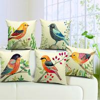 ikea 45x45 pillow covers sofa throws office decoration bird pillow case