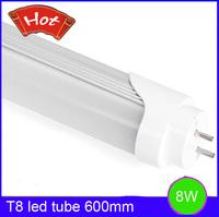 Free Shipping 8W T8 led tube 600mm SMD 2835 led lighting tube bulbs 40led SMD led 800lm High brightness indoor lighting