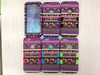 1PCS New listing of For iphone6 4.7 inch tribal lines water paste protective shell of silica gel and PC three sets of housing