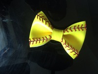2014 fashion jewelry rapid transit hot yellow baseball trigger clips and wear leather wholesale rhinestone