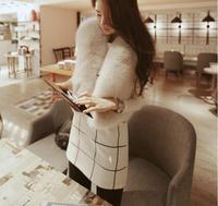 Promotion New 2014 Candy Colors Women Lady Girl Fashion Office OL Elegant Warm Faux Fur Short Vest Jacket Short Coats Waistcoat