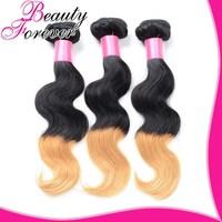 Ombre Brazilian Hair, Brazilian Virgin Hair Body Wave Ombre Hair Extensions Two Tone Color 3 Bundles Brazilian  Human Hair Weave