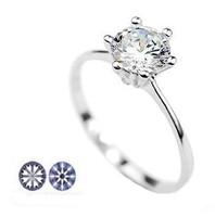 Italina 18K Alloy Plated Classic Design Ring Elegant Jewelry CZ Diamond  Crystal For Wedding Women Girl's Gift