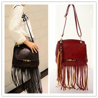New Hot Sales PU Tassel Women Messenger Bags Fashion Casual Fringe Bag Women's Shoulder Bag Bolsas Femininas 2014 WJ1055