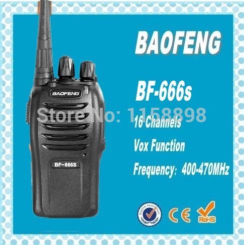 DHL freeshipping+ Mini Walkie Talkie BAOFENG 666s uhf band 400-470MHz handheld ham radio transceiver bf-666s same as bf 888s(China (Mainland))