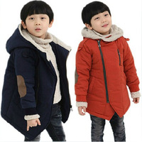 New 2014 Winter Children Outerwear Jackets For Girl/Boy  Long Sleeve Kids Thicken Hooded Jackets Coat Baby clothing TF0009