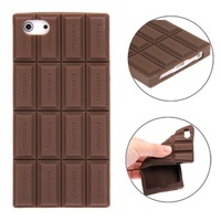Free Shipping Newest High Quality Moblie Phone Cover Chocolate Style Silicone Case for iPhone 5 & 5S