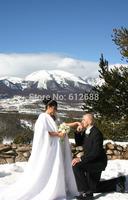Bridal Wedding Wraps With Cashmere Fur Keep Warm Covered White Wedding Dress Wraps