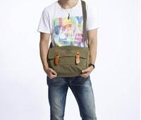 2014 New  Men's Casual Vintage Canvas School Travel Crossbody  Bags Men Messenger  Shoulder Bag Fashion